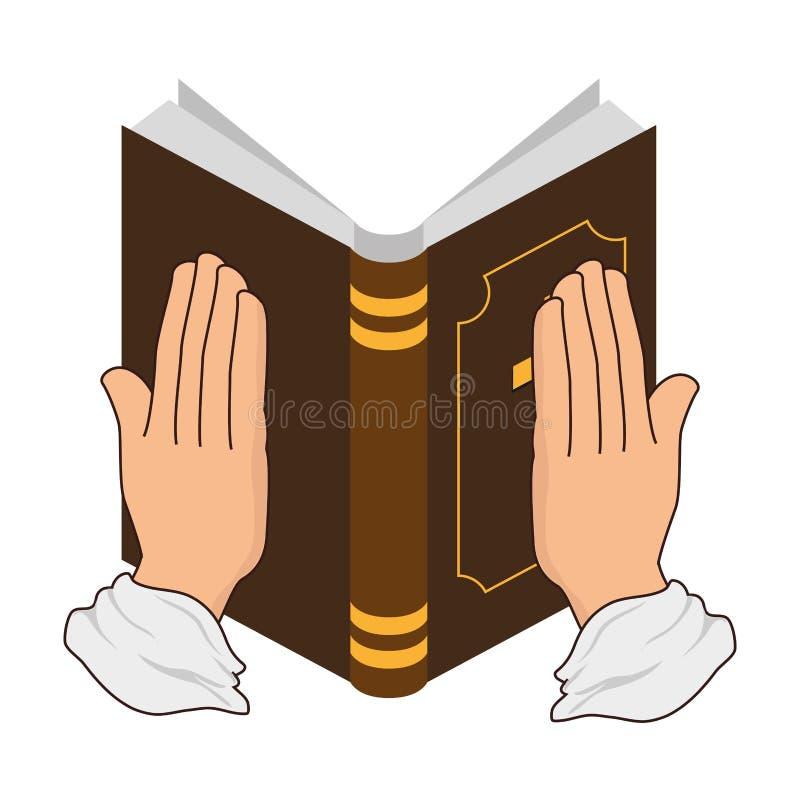 sakral symbol för helig bibel stock illustrationer