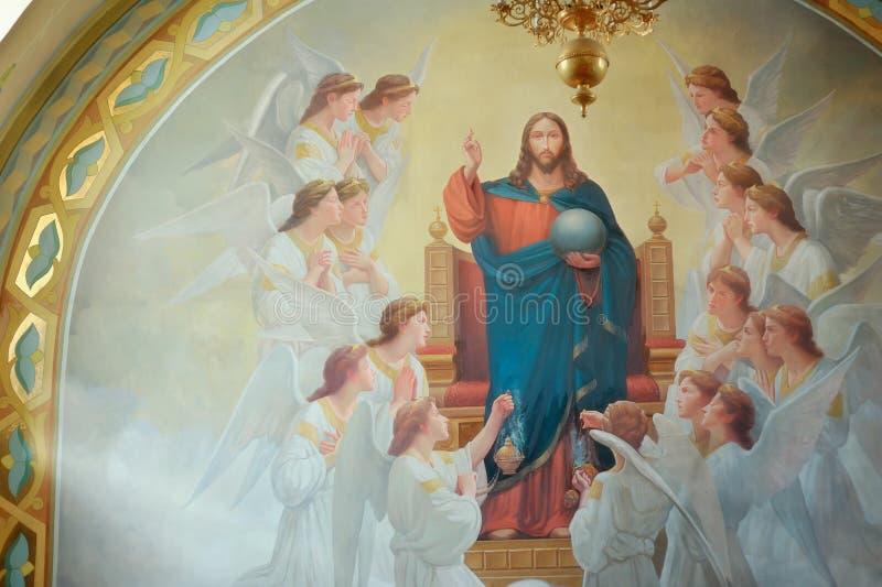 Sakrala bilder i kyrkor royaltyfri fotografi