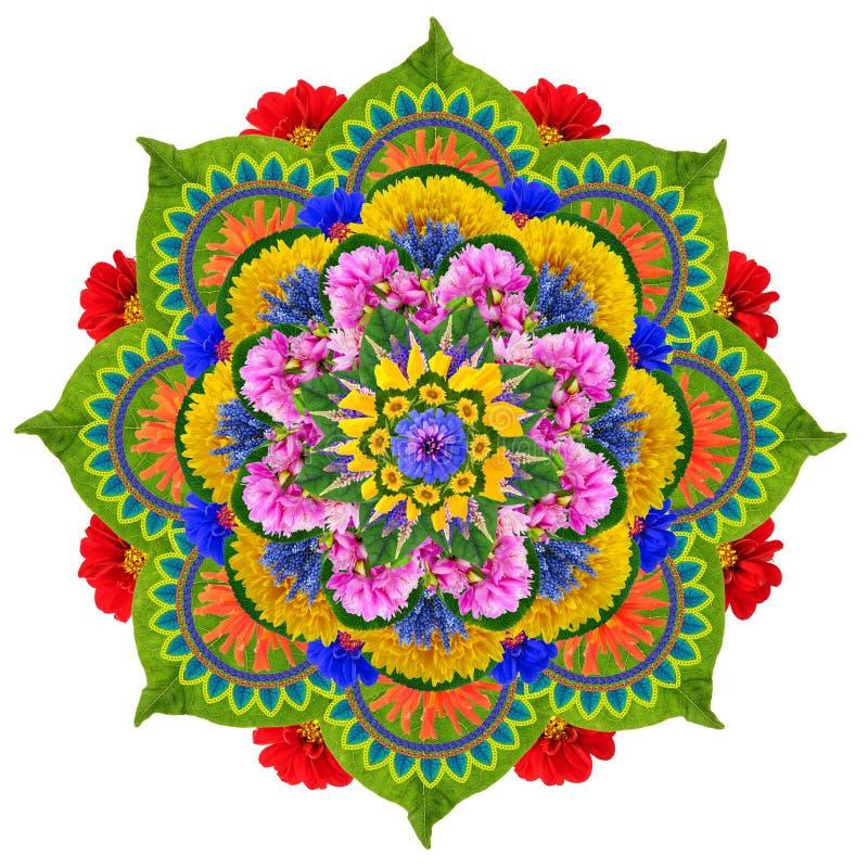 Sakrala Lotus mandala fotografering för bildbyråer