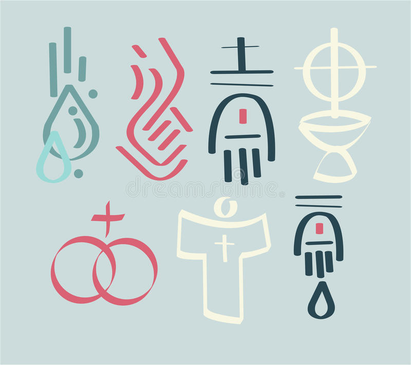 sakramenty ilustracji