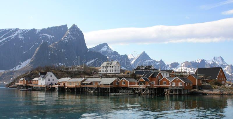 Download Sakrisoy island stock photo. Image of hamnoy, environment - 14346042