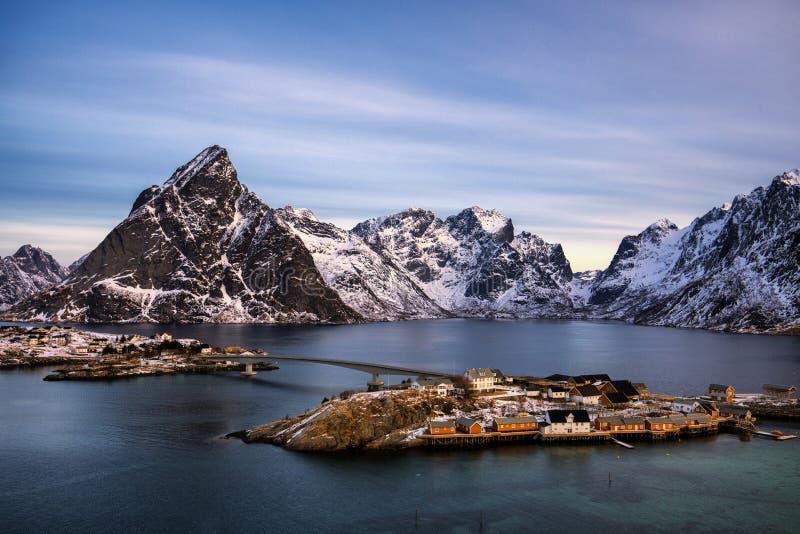 Sakrisoy, Lofoten, Νορβηγία στοκ φωτογραφία με δικαίωμα ελεύθερης χρήσης