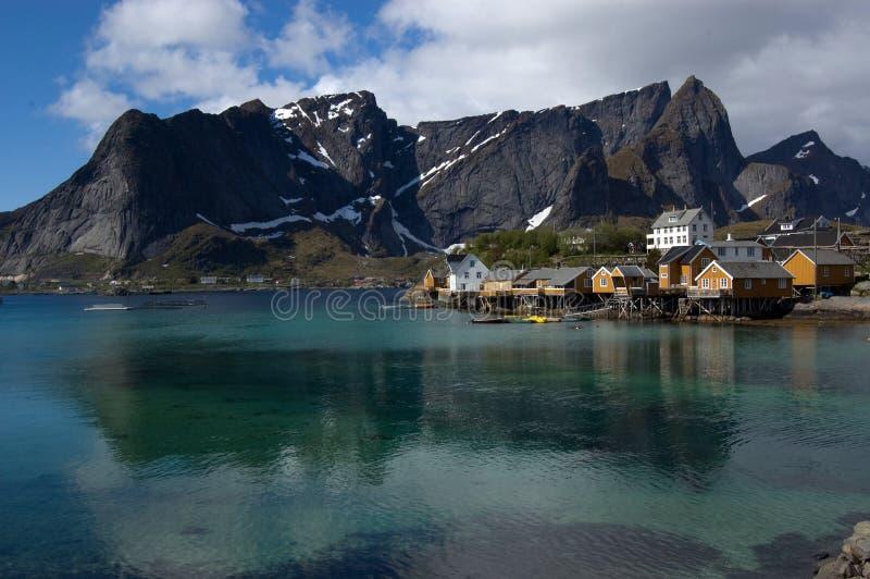 Sakrisoy, Lofoten royalty-vrije stock afbeelding