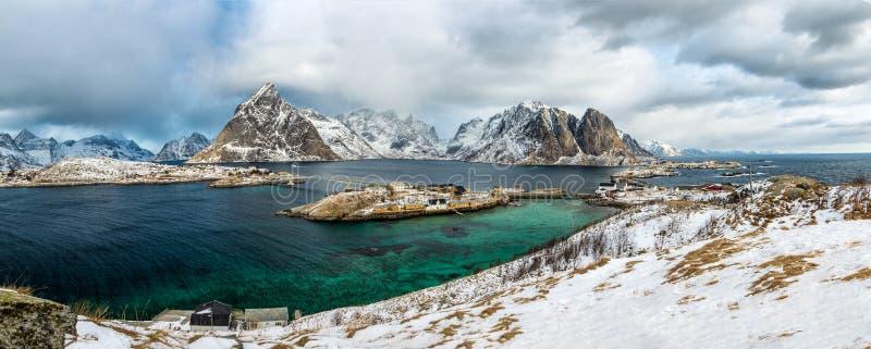Sakrisoy, Lofoten, Noorwegen stock afbeelding