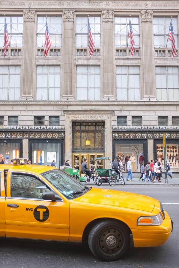 Saks Buduje, Miasto Nowy Jork obrazy stock