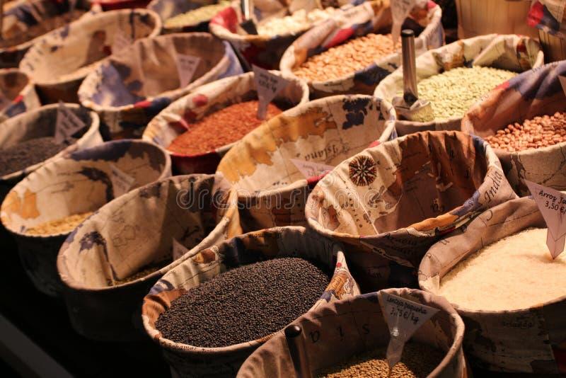 Saks pikantność w hiszpańskim rynku zdjęcie stock