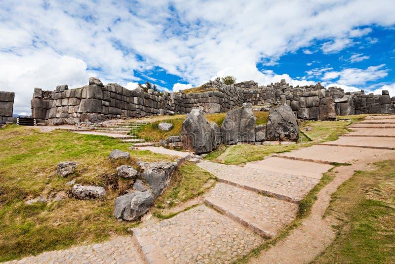 Saksaywaman在库斯科 免版税库存图片