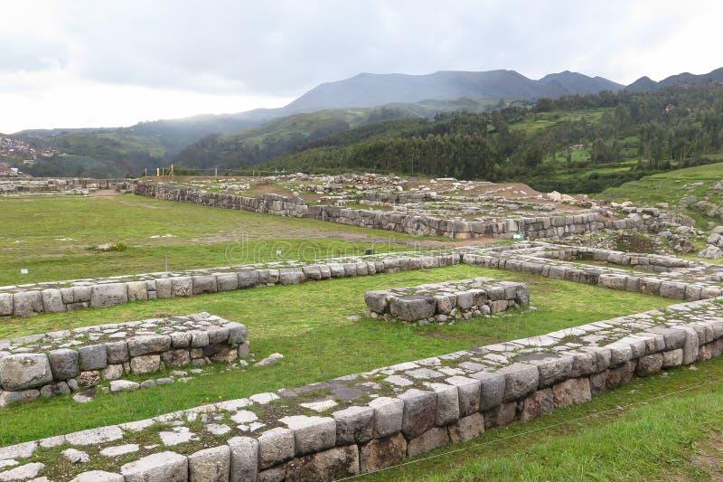 Saksaywaman废墟在秘鲁 免版税图库摄影