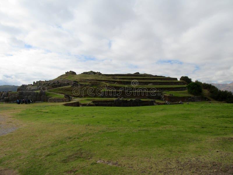 Saksaywaman,库斯科,秘鲁 库存照片