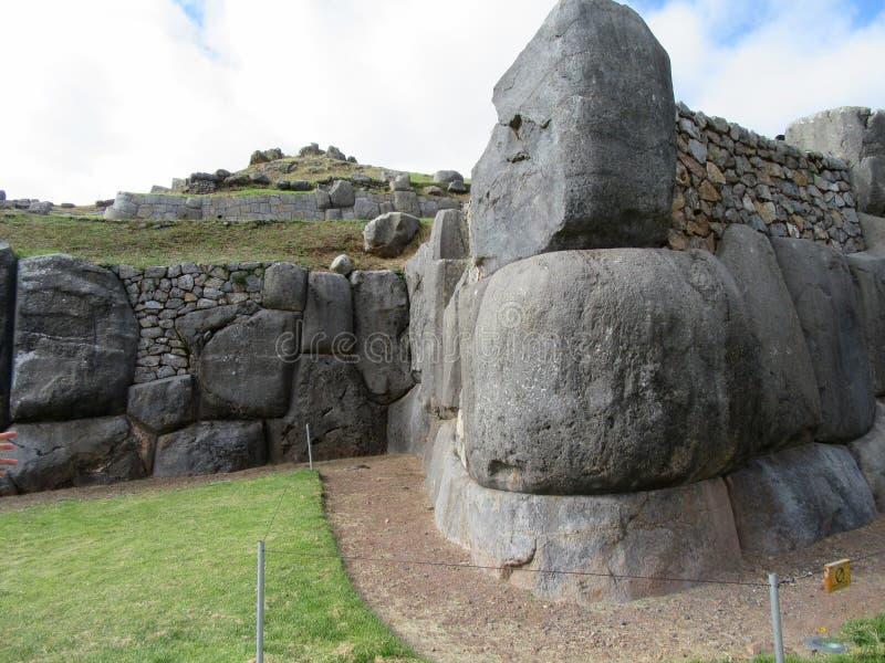 Saksaywaman, Cusco, Περού στοκ φωτογραφία
