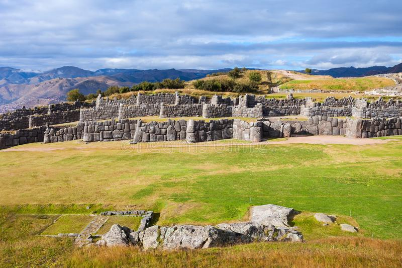 Saksaywaman i Cusco royaltyfri fotografi