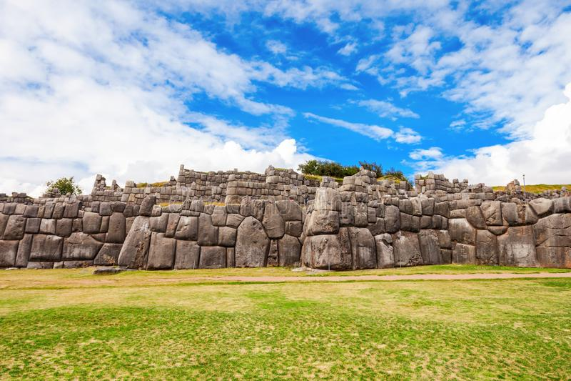Saksaywaman i Cusco arkivbilder