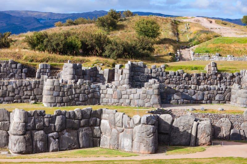 Saksaywaman i Cusco fotografering för bildbyråer