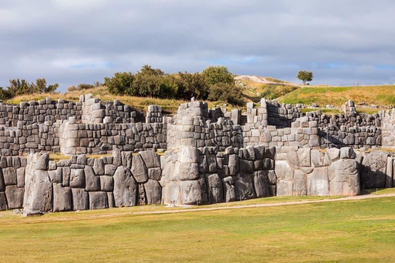 Saksaywaman i Cusco royaltyfri bild