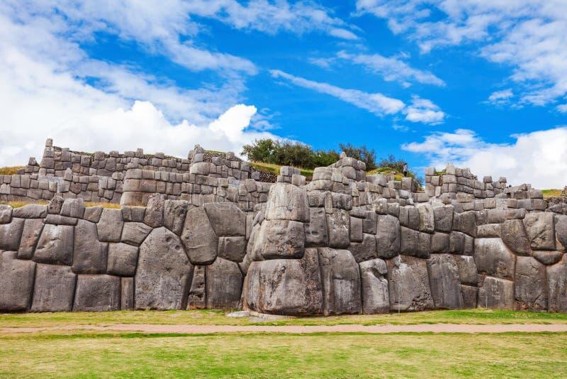 Saksaywaman i Cusco arkivfoton
