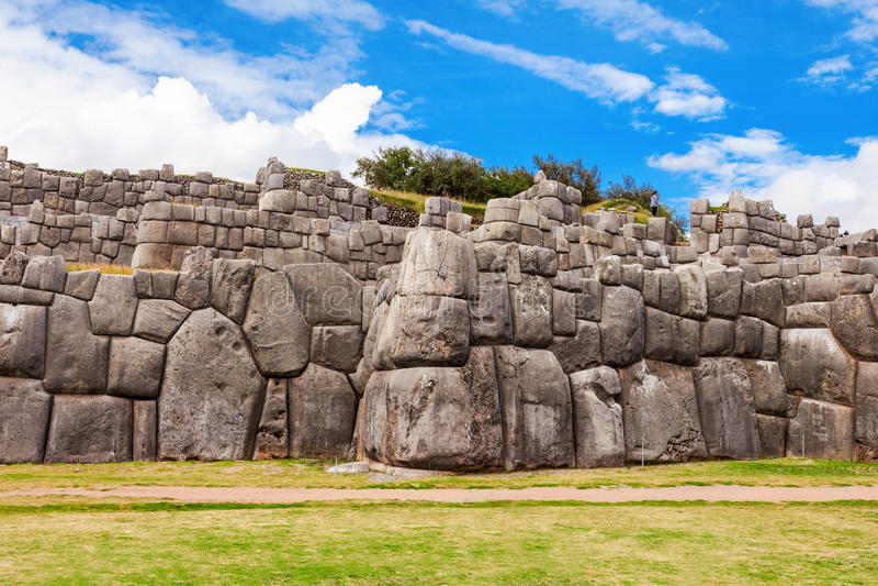 Saksaywaman i Cusco arkivfoto