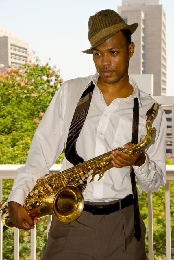saksofon gracza obrazy royalty free