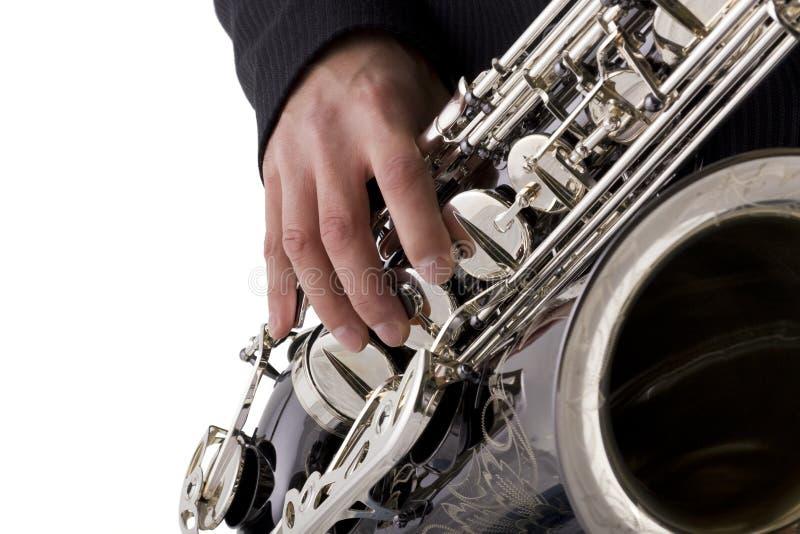 saksofon gracza obraz stock