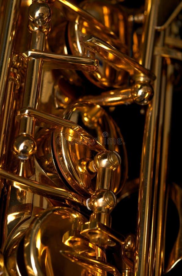 saksofon klapy zdjęcia stock