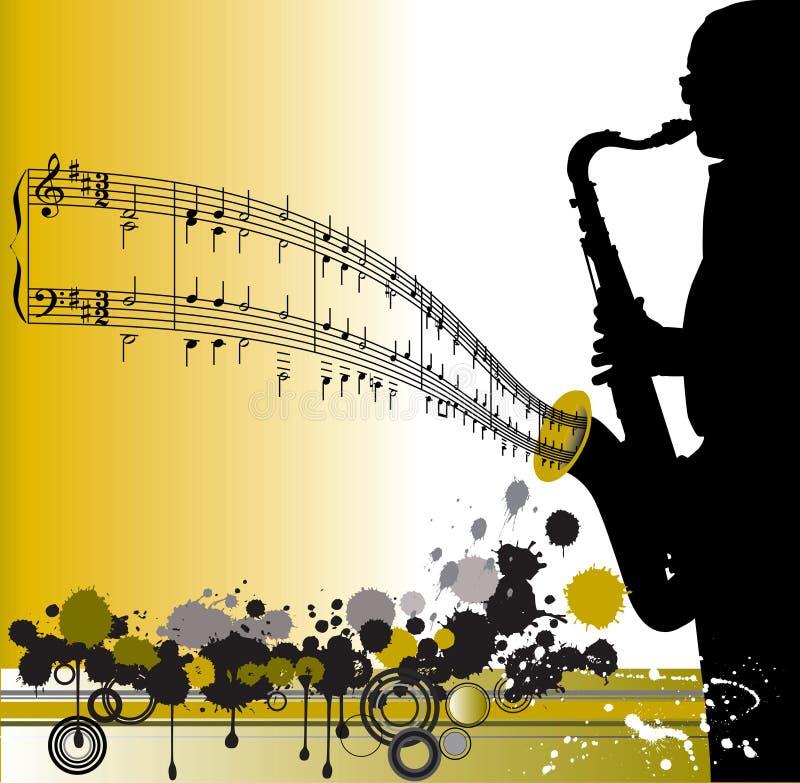 saksofon uczestników projektu ilustracji