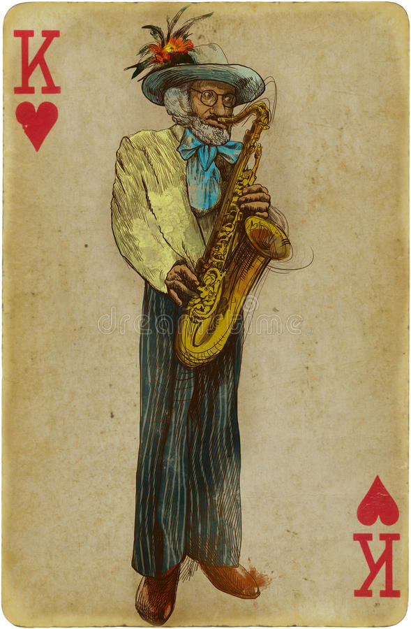 Saksofonista ilustracja wektor