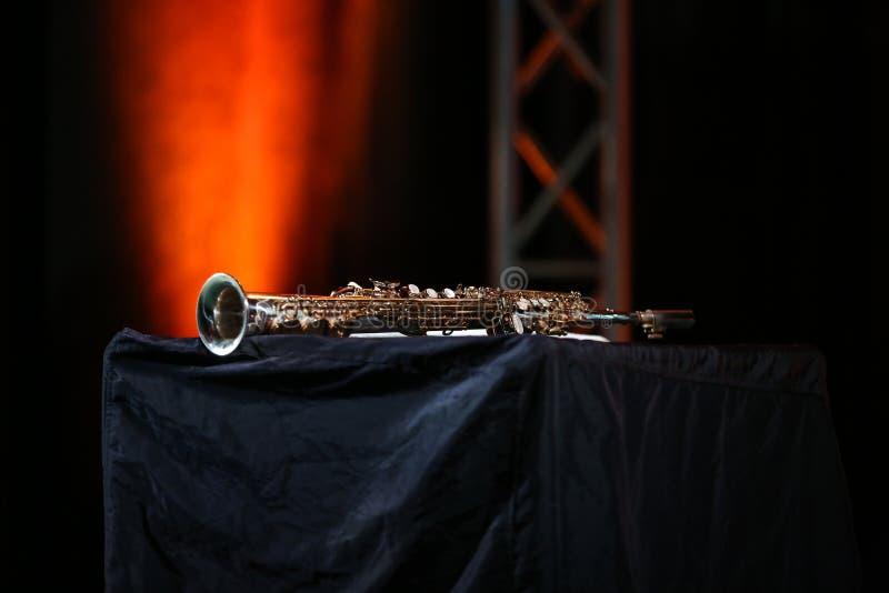Saksofonowy dyszkant obraz stock