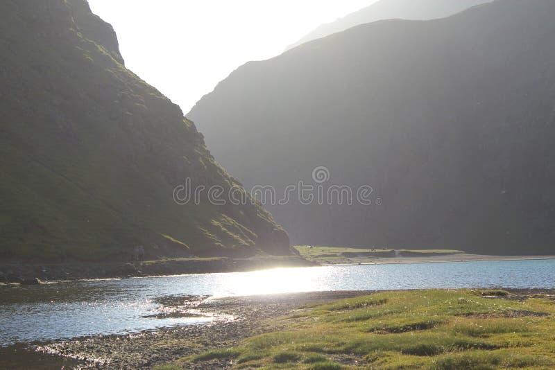 Saksun, Faroe Islands royalty free stock photos