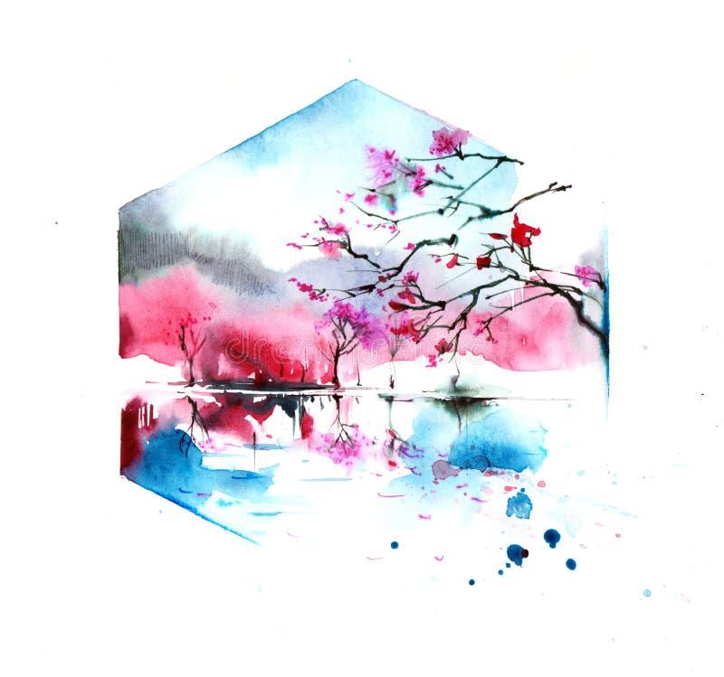 Sakura stock illustrationer