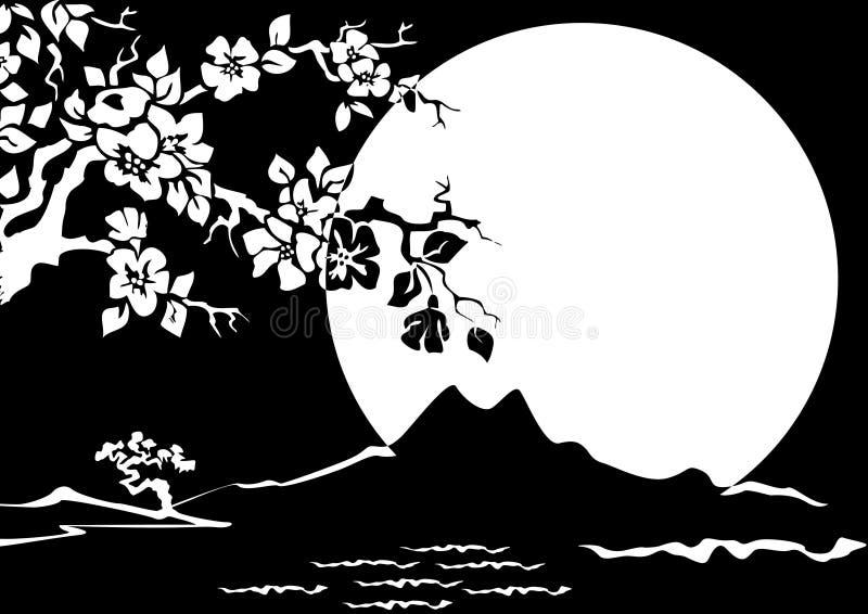 Sakura ilustração royalty free