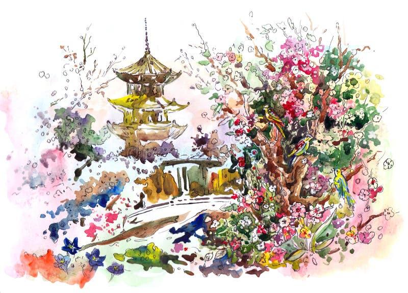 Sakura ilustración del vector