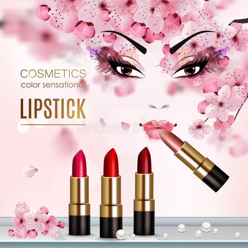 Sakura Abstract Flyer illustrazione di stock