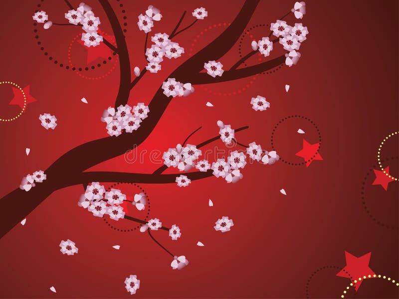 Sakura Background décorative illustration de vecteur