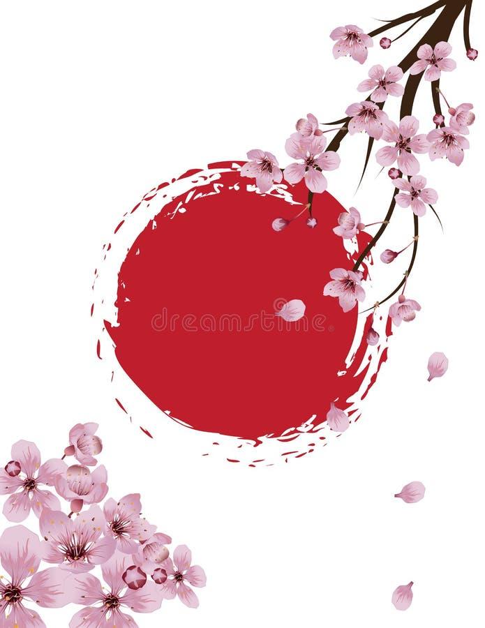 Sakura Banner de floraison illustration de vecteur