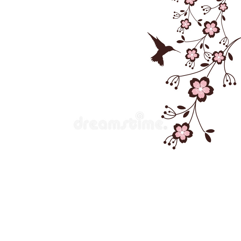 Sakura-Blüten lizenzfreie abbildung