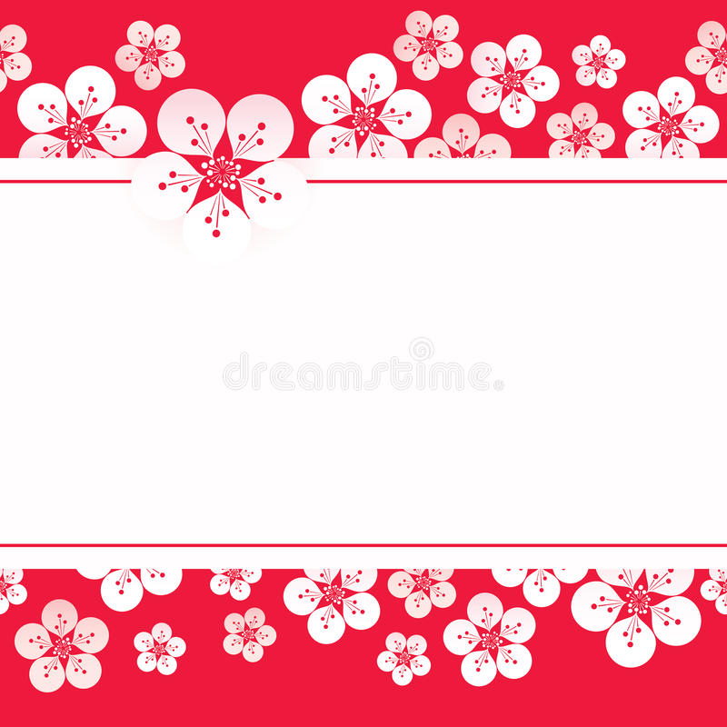 Sakura blossom background stock illustration
