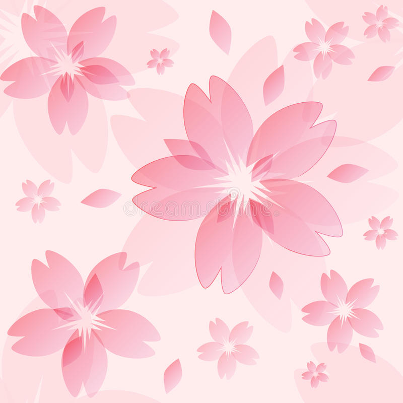 Sakura blossom texture royalty free illustration