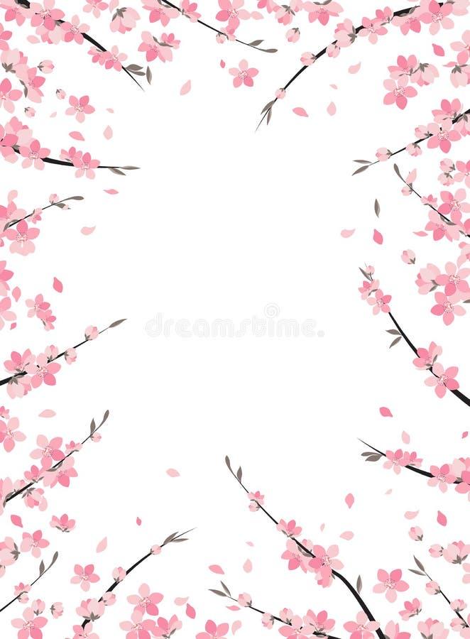 Sakura branch decoration stock illustration