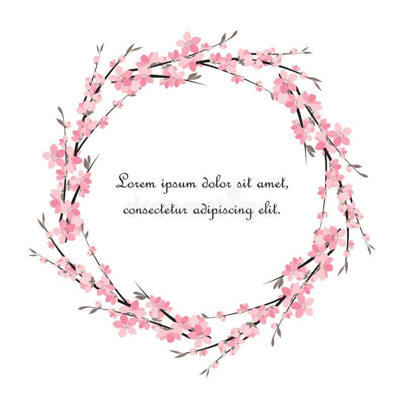Sakura branch decoration royalty free illustration