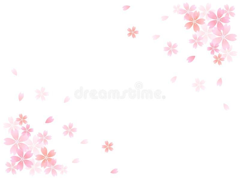 Sakura czereśniowego drzewa tło ilustracja wektor