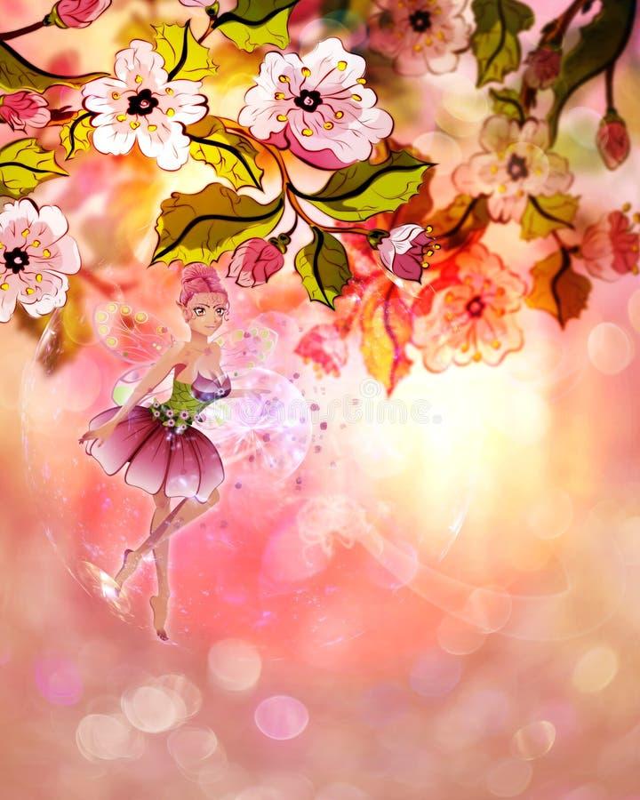 Sakura Fairy ilustração royalty free