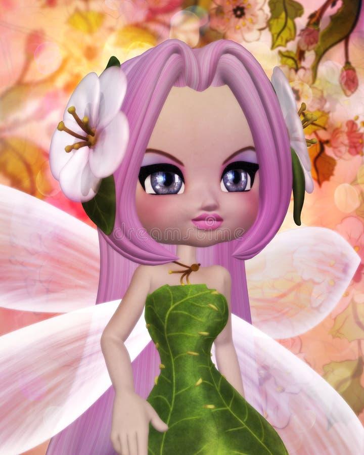 Sakura Fairy ilustração stock