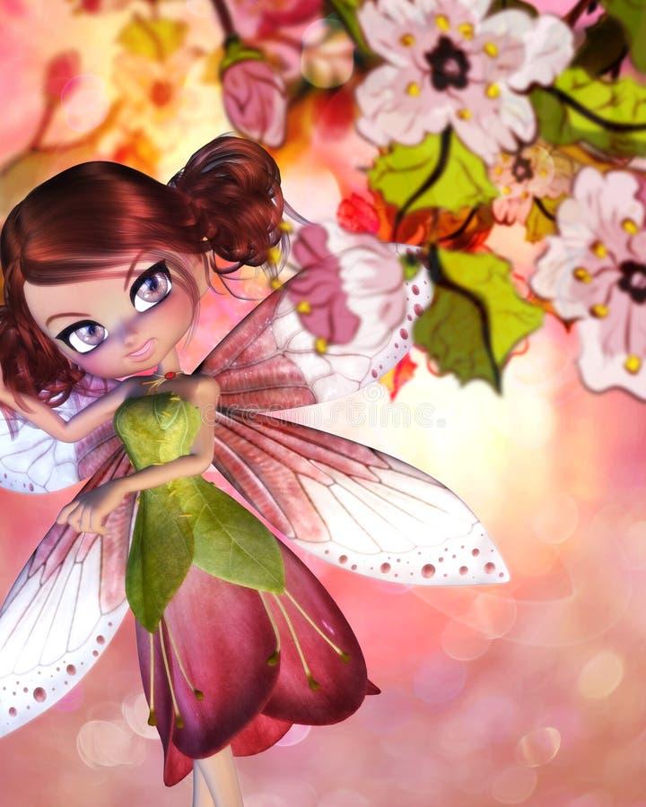 Sakura Fairy royalty-vrije illustratie