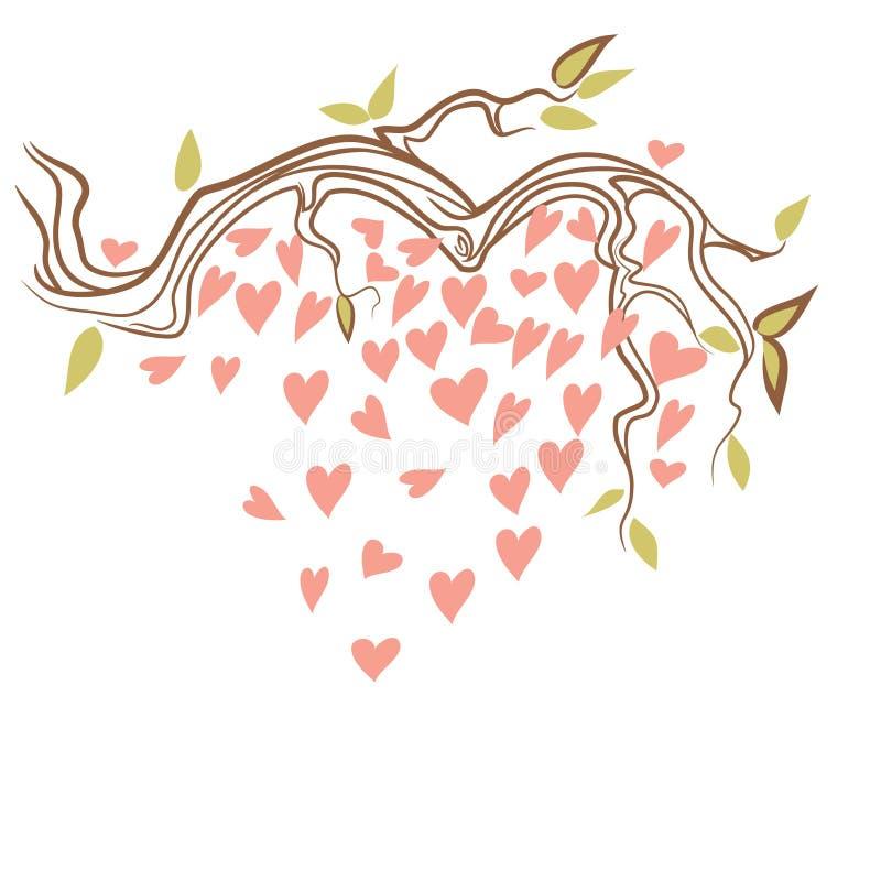 Sakura med hjärta arkivbild