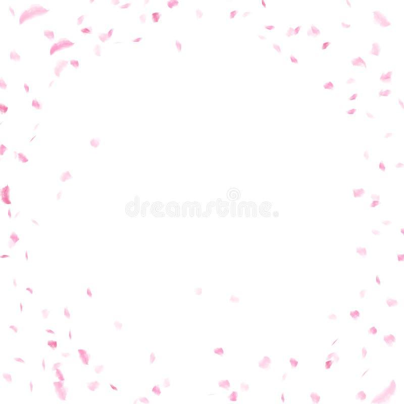 Sakura płatki rozpraszają, akwarela atramentu tekstury artristic abstrakt ilustracja wektor