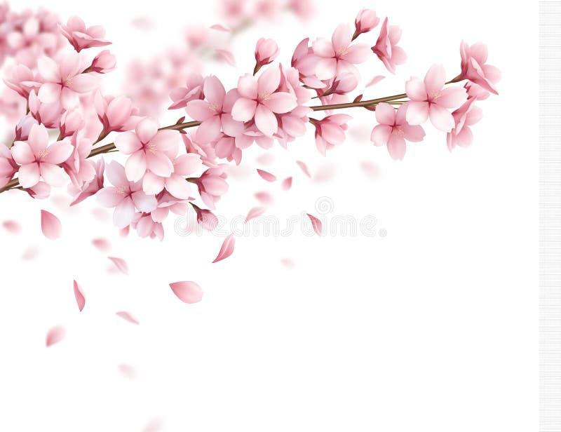 Sakura Realistic Background vektor abbildung