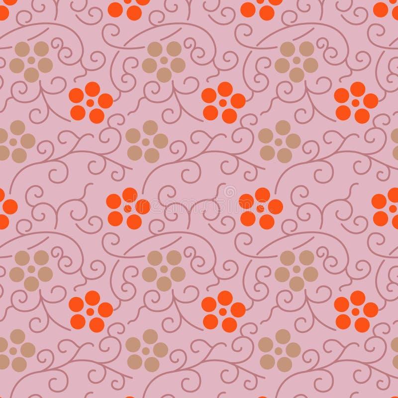 Sakura And Vine Pattern japonesa ilustração do vetor