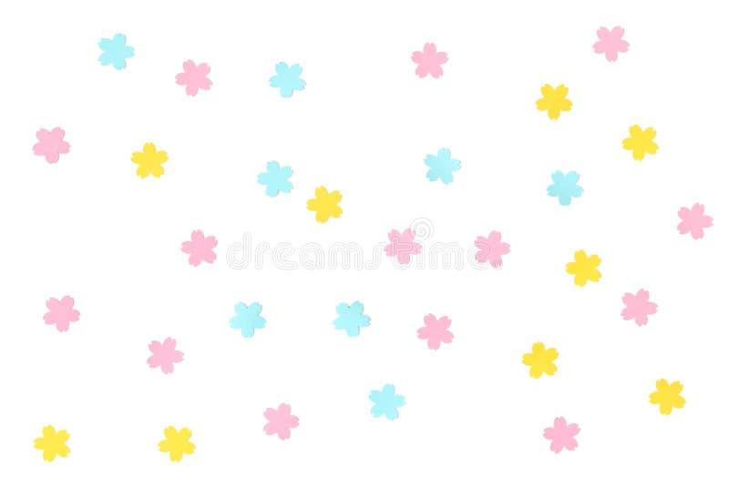 Sakura wzoru papier ciący na białym tle ilustracji