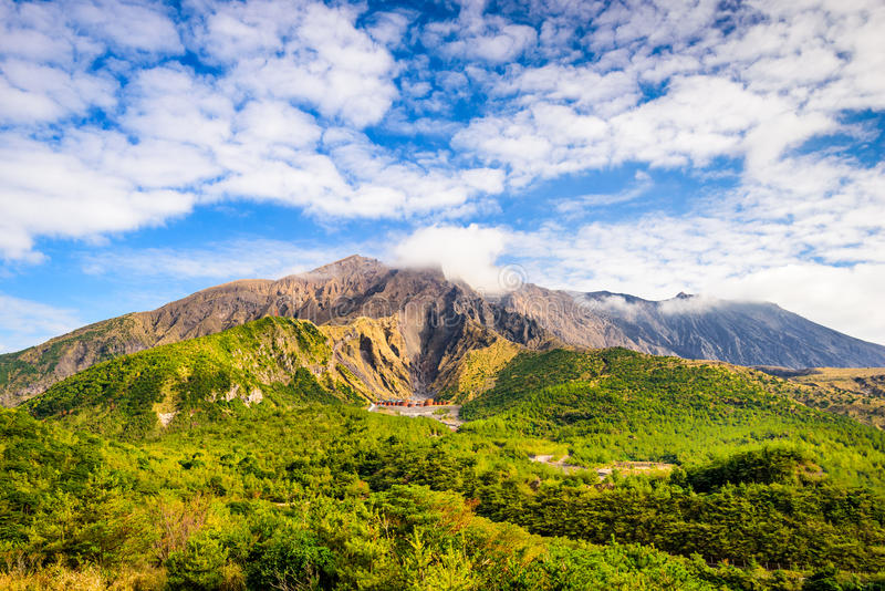 Sakurajima Kagoshima Giappone fotografia stock