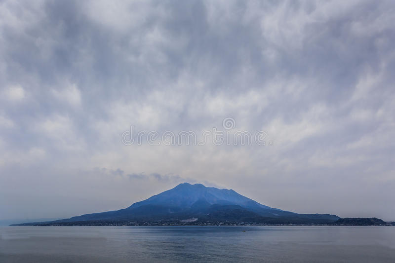 Sakurajima - l'a piena vista fotografia stock libera da diritti