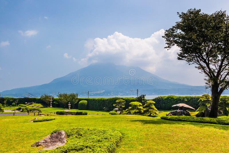 Sakurajima vulkan arkivfoton